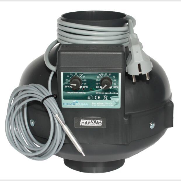 Rohrventilator PK100-TC 280m³ Klimacontroller